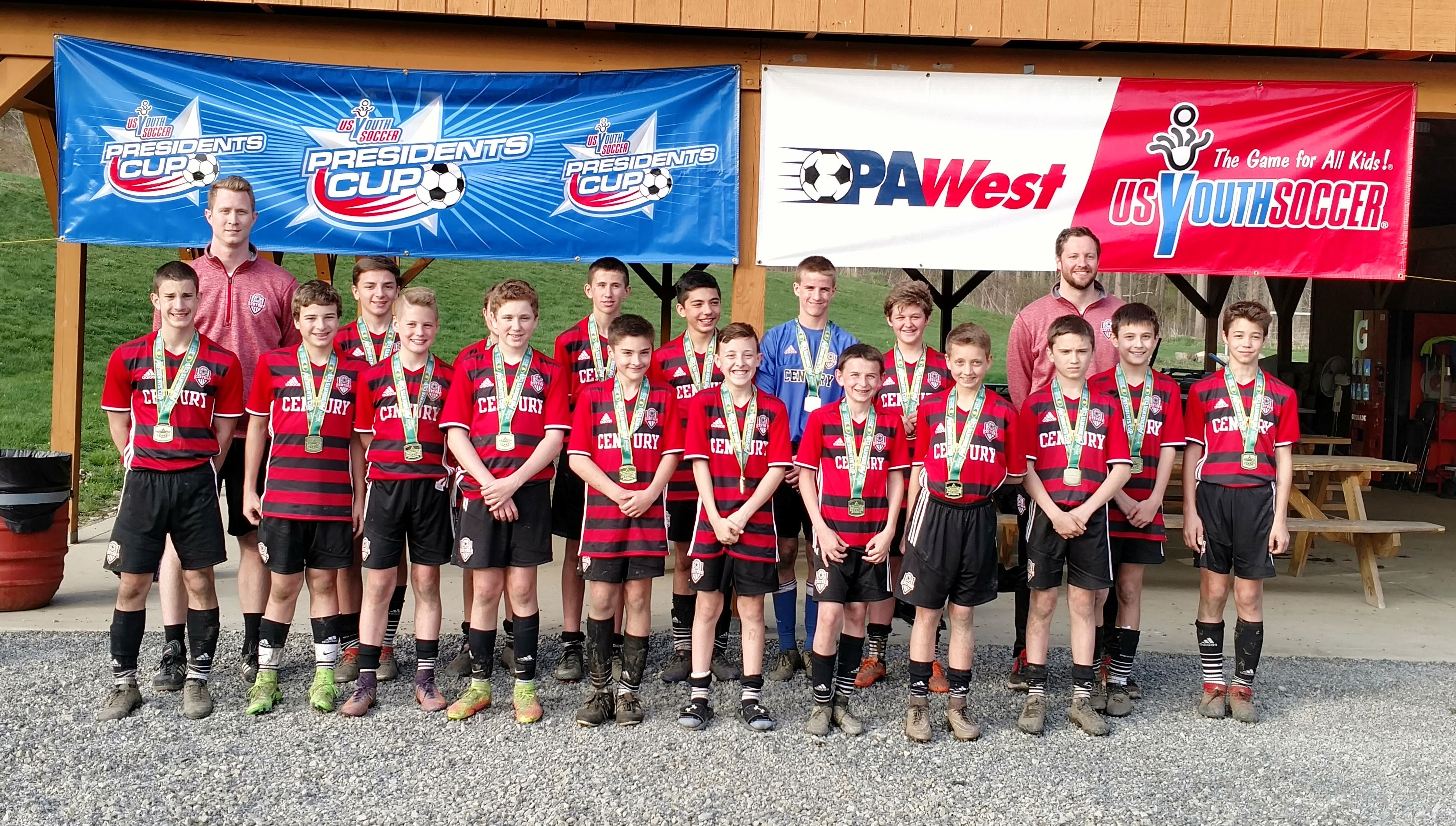 Century 2003 Boys Red team win PaWest Presidents Cup