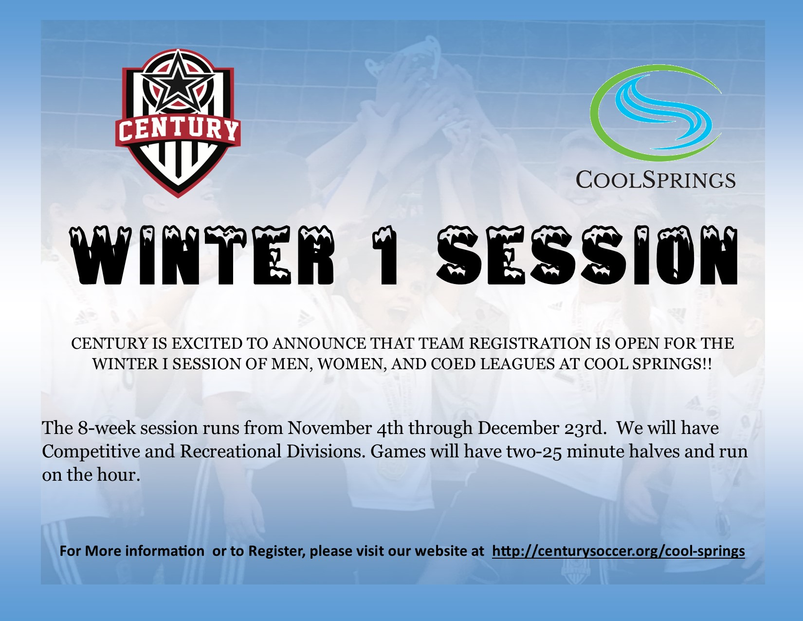 Winter 1 Indoor Sessions